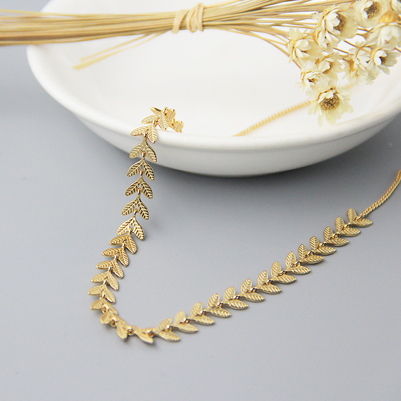 Silvology Gold Leaves Choker Necklace 925 Sterling Silver 18K Gold Elegant Necklace for Women New Silver 925 Fashionable Jewelry