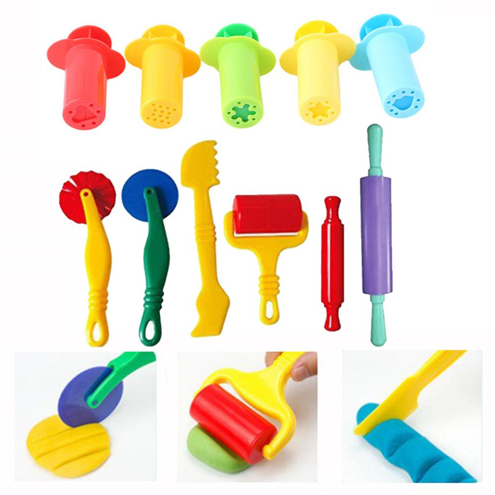 Dough Tools Extrusion Play Set Modelling Clay Extrusion Mold Kids Toy Educational Plasticine Kit Play Dough Model Tool Molds