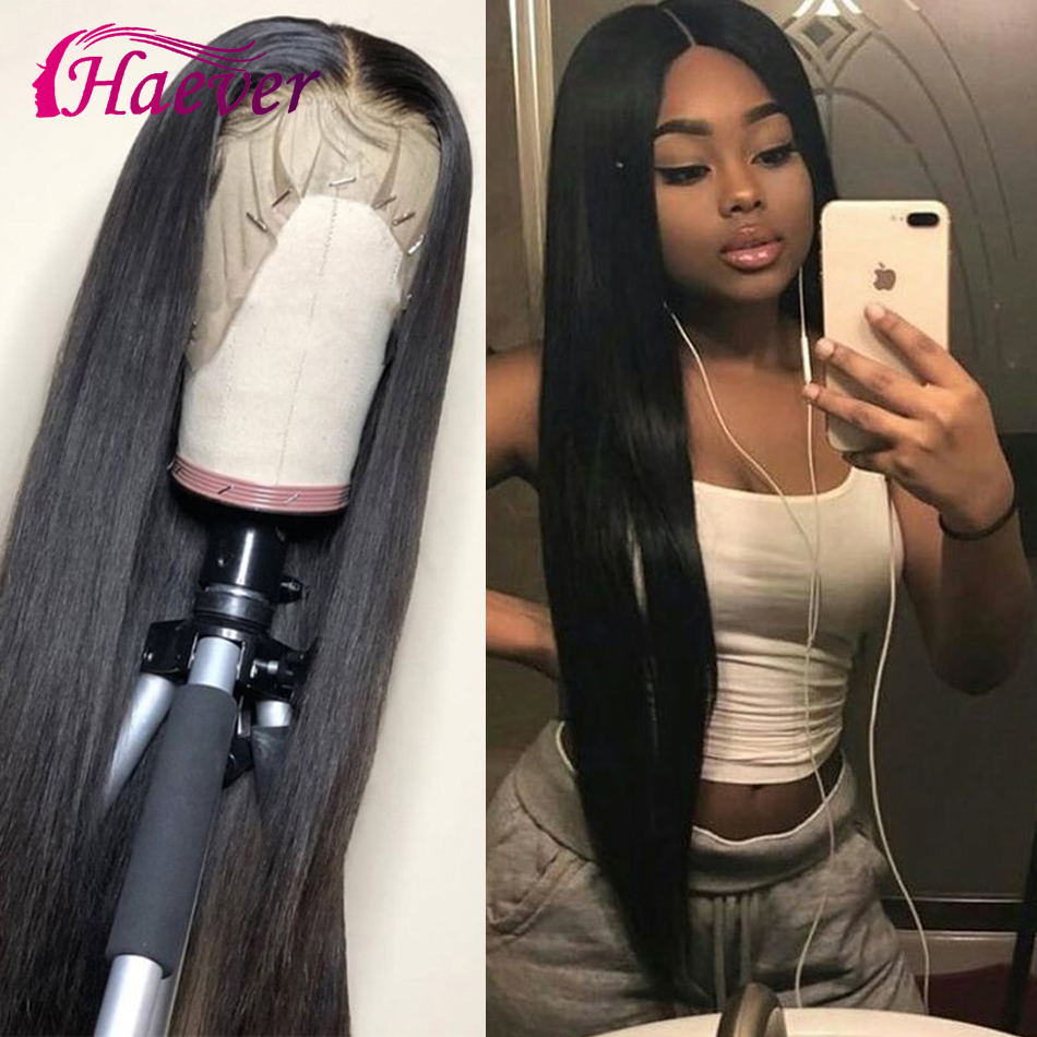 Haever Peruvian Wig 13x4  Closure 150% Wig Lace Front Human Straight Hair Wigs Pre-Plucked With Baby Hair Remy Lace Frontal