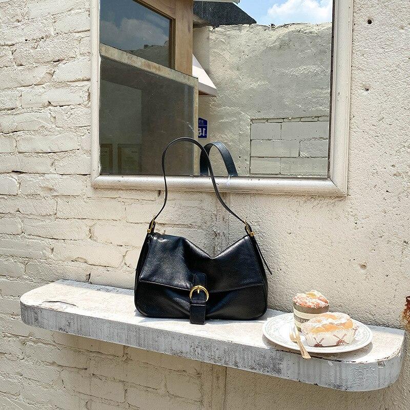 New style handbags handbags fashion trend ladies shoulder bag PU retro handbag