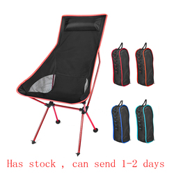 Lua portátil cadeira de pesca leve acampamento cadeiras para churrasco dobrável estendido caminhadas assento jardim ultraleve escritório móveis para casa
