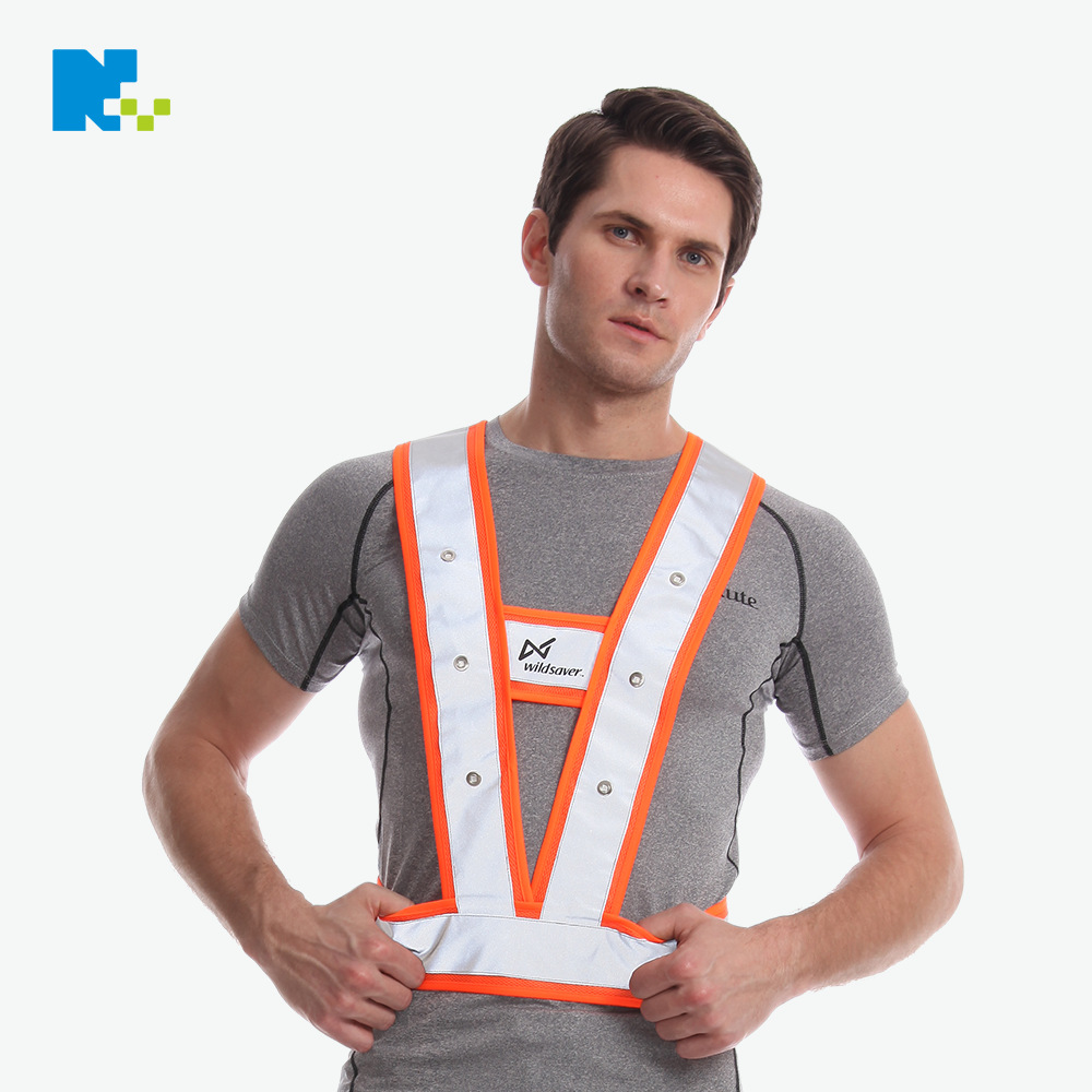 Led Reflective Vest LED Shining Logistics Circulation Work Clothes LED Shining Safe Shipping Clothing Customizable