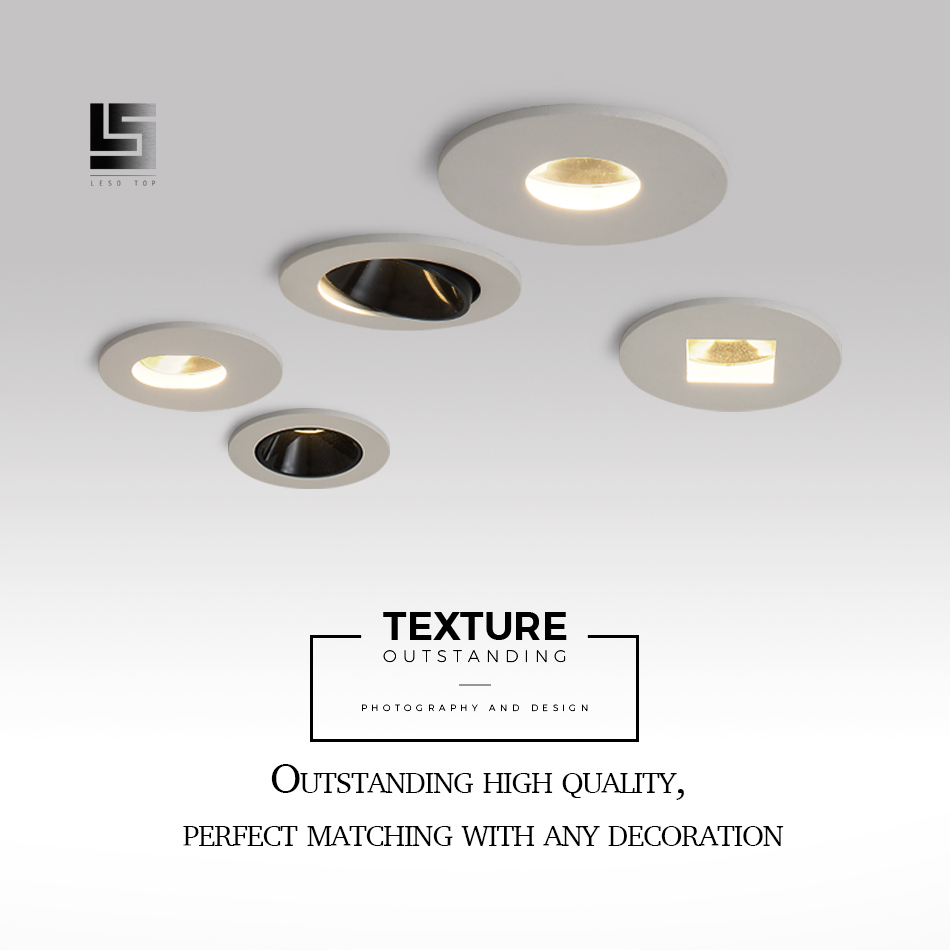 Led Spotlight 5W 7W COB High-end Hotel Engineering Downlight Embedded Led Commercial Lighting Super Led Wall Washer Lamp