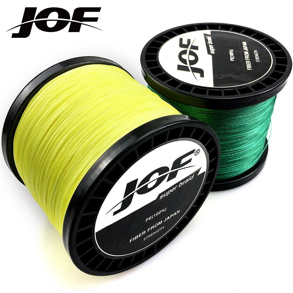 JOF Braided Fishing Line 8 Strands Multicolor 300M 500M 1000M Cord Linha Multifilamento 8 Weaves Fishing Line