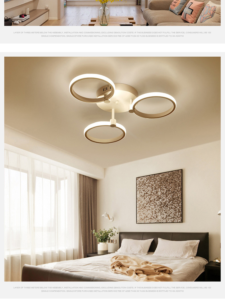 H15f21be4232040578de3d4ae8306ac13J Surface mounted modern led ceiling lights for living room Bed room light White/Brown plafondlamp home lighting led Ceiling Lamp