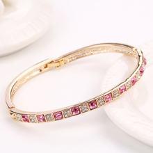 Женский очаровательный браслет с кристаллами на цепочке Ювелирное