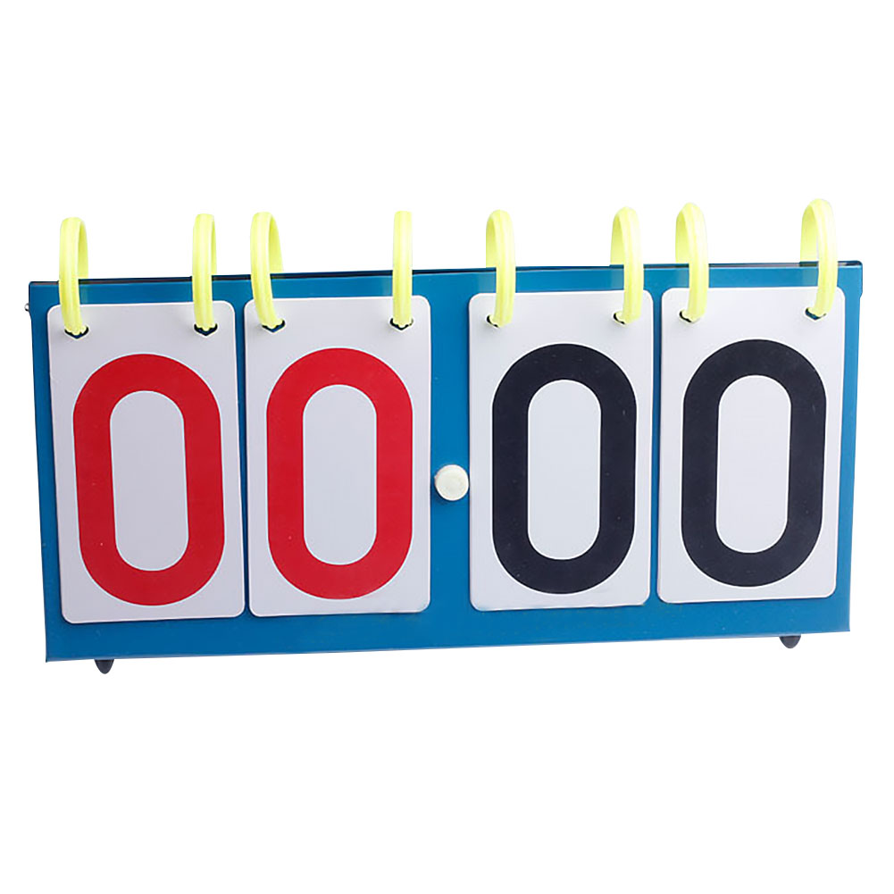 1pc 4-Digit Professional Football Scoreboard Basketball Badminton Volleyball For Table Tennis Portable Sports Competition