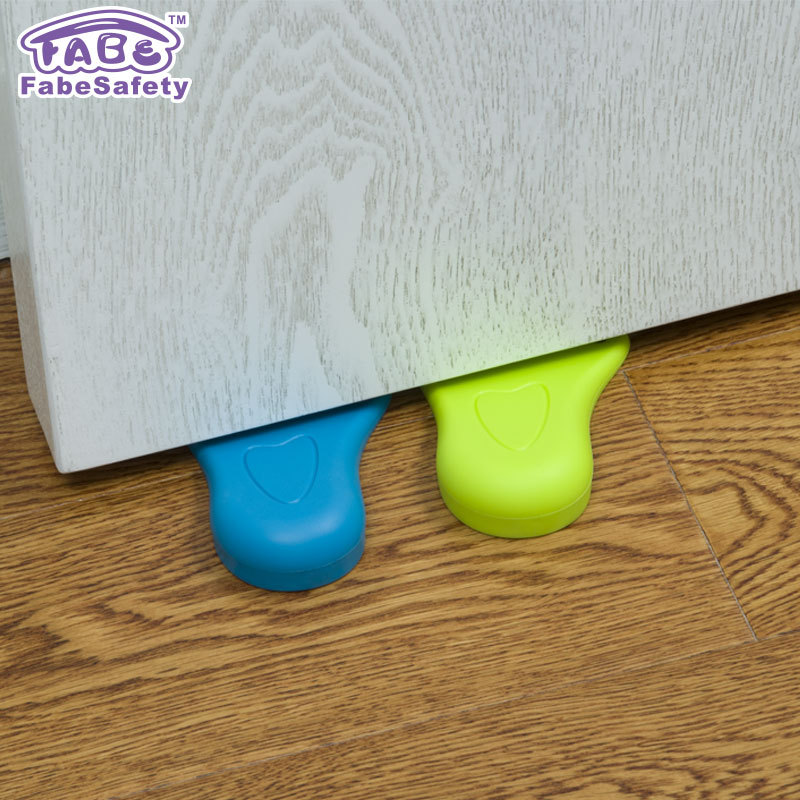 Door Stopper Foot Shape Child Safety Rubber Door Stops Works On All Floor Surfaces Prevent Fingers Injure Protect Children