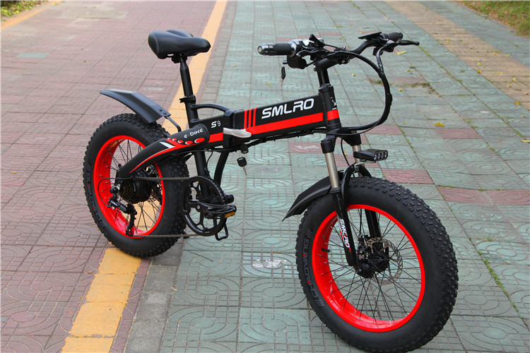China S9f Manufacturer 20 Inch E Bike 48v 500w Fatbike Folding Electric Bike 2