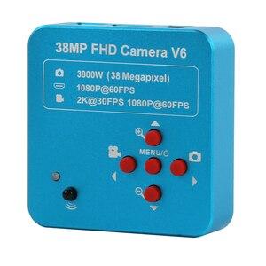 Image 3 - 3.5X 7X 45X 90X çift Boom standı Zoom Simul odak trinoküler Stereo mikroskop + 38MP kamera mikroskop endüstriyel PCB tamir