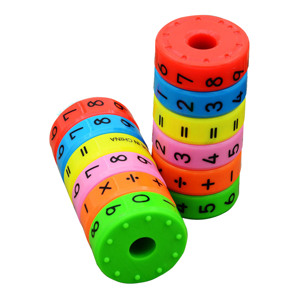 Math Toys Baby Learn Educational Montessori Stick  Cylinder Puzzle Education Number Toys Calculate Game Learn Counting