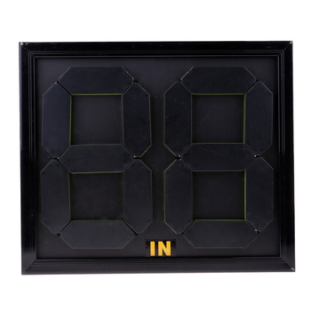 Practical Soccer Substitution Board Double Side Display 4-digits Black Color