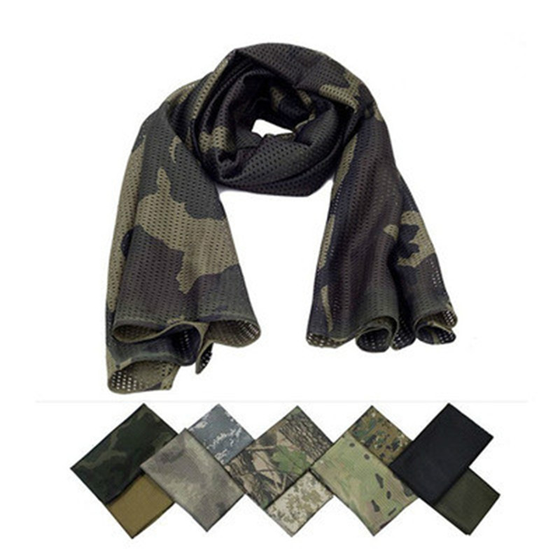 New Special Forces Scarf Outdoor Breathable Necker Chief Summer Sunscreen Scarf Tactical Camouflage Headscarf Army Mask