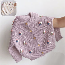 Knitted Sweater Cardigan Outerwear Teenage-Clothes Girls Korean Children for Cute Colored