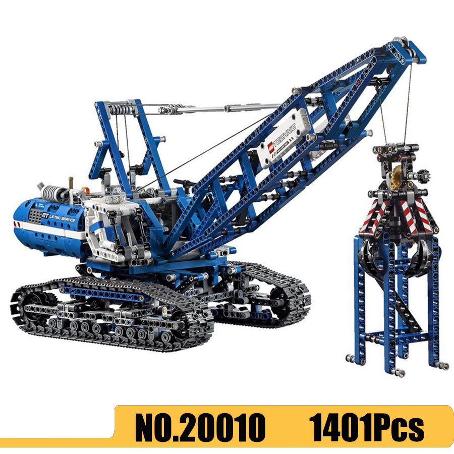 20010 <font><b>Technic</b></font> Series Crawler Crane Mobile Tower Crane Model Building Blocks Bricks Compatible <font><b>Legoinglys</b></font> <font><b>42042</b></font> 90010 image
