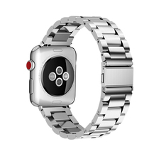 цена на Luxury Strap for Apple watch band 44mm 40mm iWatch band 38mm 42mm Stainless Steel metal Watchband bracelet Apple watch 5 4 3 2 1