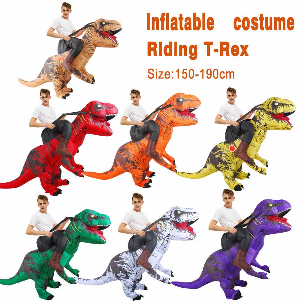 Kooy Opblaasbare Dinosaurus Kostuum T Rex Rider Kostuums Purim Carnaval Party Cosplay Kostuum Halloween Kostuum Voor Mannen Vrouwen Kinderen