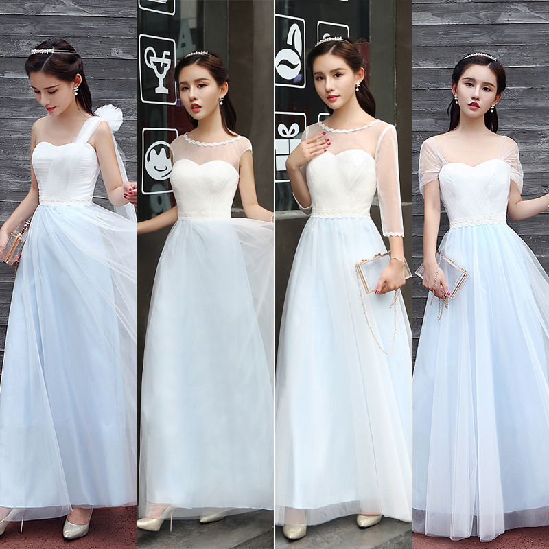 Bridesmaid Dress Long Section 2019 Summer New Style Married Slim Bridesmaid Sisters Skirt Fairy Evening Dress Long Section