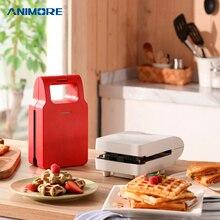 ANIMORE электрическая яичная сэндвич-машина мини-гриль Panini противни для выпечки тостер многофункциональная антипригарная вафельная машина для завтрака