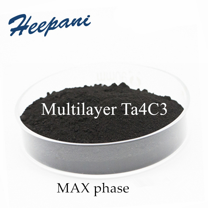 Free Shipping Ta4C3 MXenes Material Multilayer Max Phase Ceramic Material 200 Mesh Organoid Tantalum Carbide Material Powder
