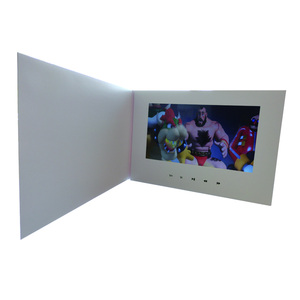 "Image 3 - Customization Smart 10"" LCD USB Smart Flip 1080P Color Screen LCD Video Photo Xmas Greeting Card Media Player"