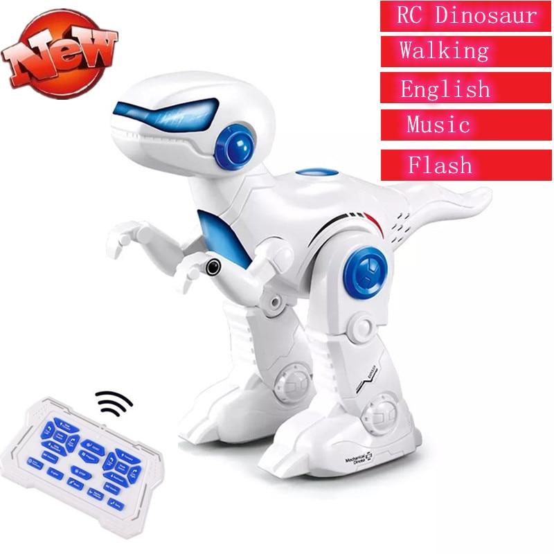 controle remoto inteligente dinossauro robo brinquedo rc dinossauro modelo rc robo com musica flash luz andando