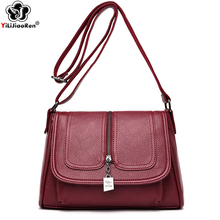 цена на New Elegant Shoulder Bag Women Luxury Handbags Women Bags Designer Soft Leather Crossbody Bags for Women Thread Sac A Main Femme