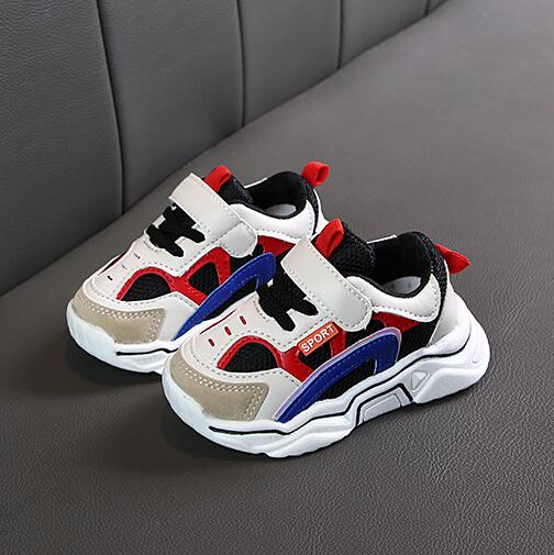 Kids Children Shoes Antislip Soft Bottom Baby Sneaker Casual Flat Sneakers Shoes size 21-30 Girls Boys Sport Shoes