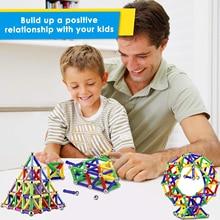 103/206PCS Magnetic Blocks Triangle Square Bricks Magnetic Designer Construction Toys
