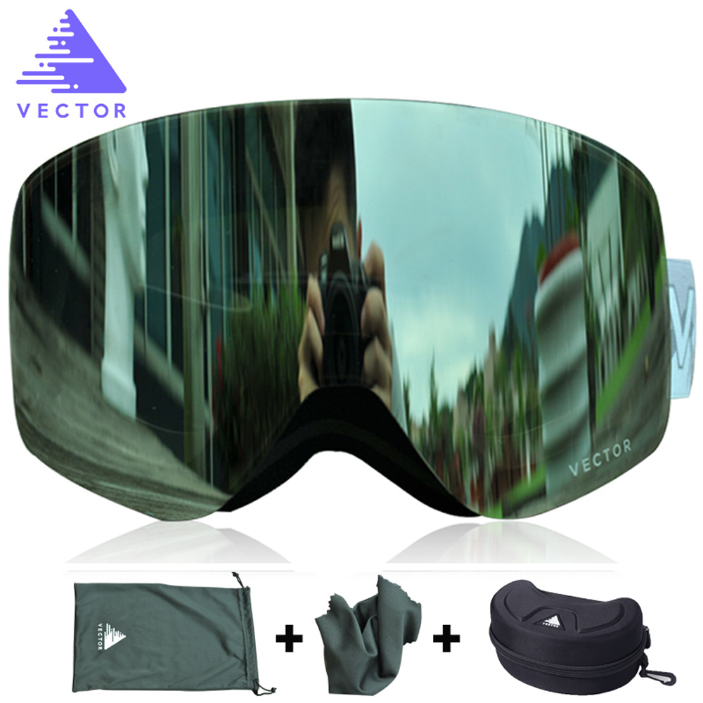 VECTOR Snowboard Goggles Eyewear Double-Lens Skiing UV400 Women Adult Anti-Fog Brand