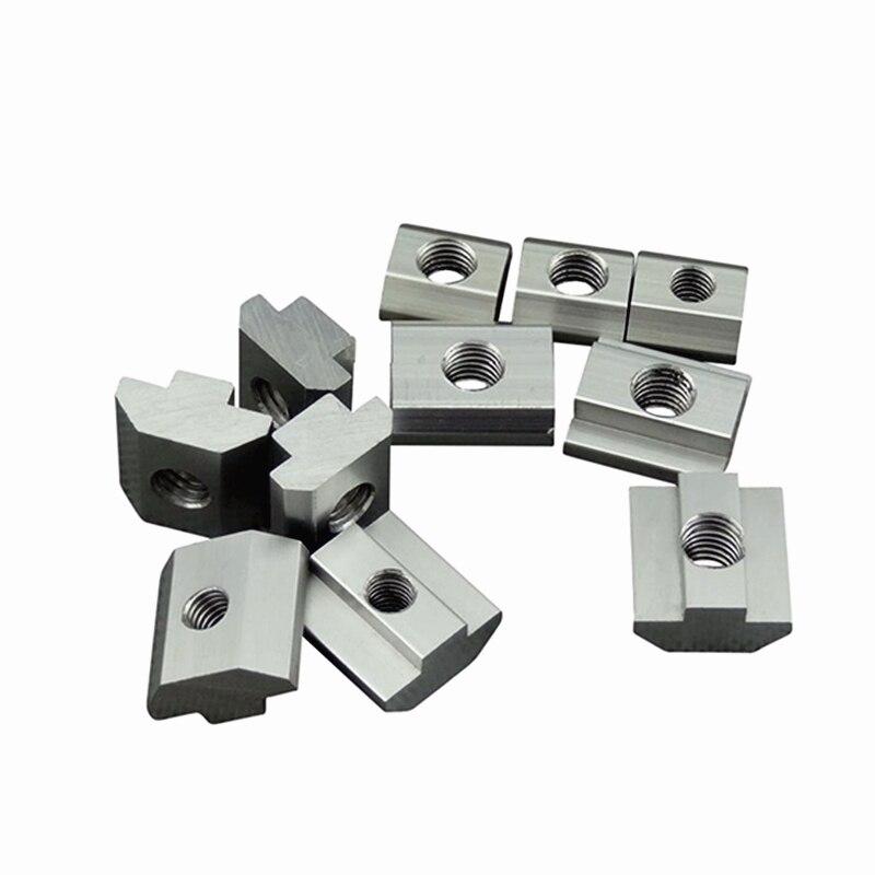 5-30pcs/bag M3 M4 M5 M6 T Block Square Nuts T-Track Sliding Hammer Nut For Fastener Aluminum Profile 20*20 30*30 40*40