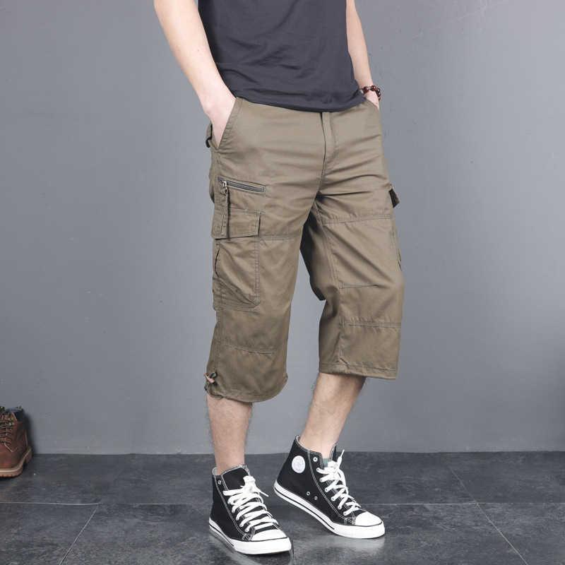 Carabou Outdoor Wear homme Action Shorts New Multipocket Fermeture Éclair Longueur Genou Pantalon