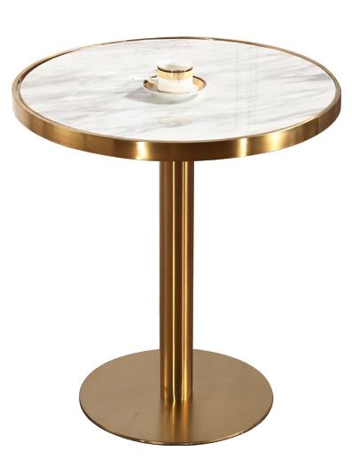 Латунный позолоченный стол для рисования с проволокой мраморный