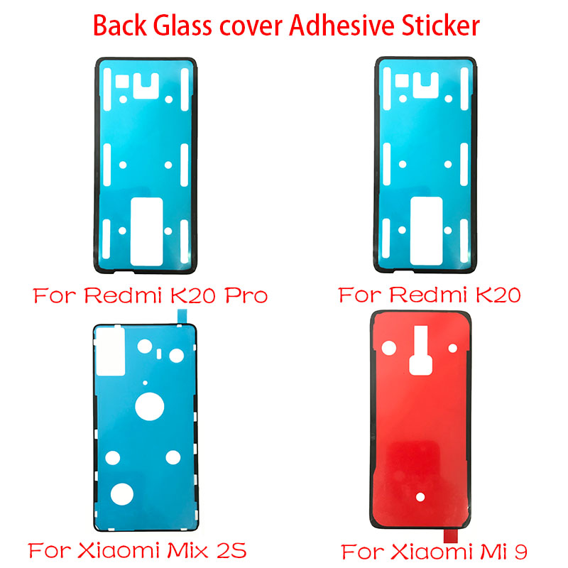 2 pcs/lot New For Xiaomi <font><b>Mi</b></font> 9 <font><b>Mix</b></font> <font><b>2S</b></font> / Redmi Note 7 K20 Pro Back <font><b>Battery</b></font> Cover Door sticker Adhesive glue tape Replacement Parts image