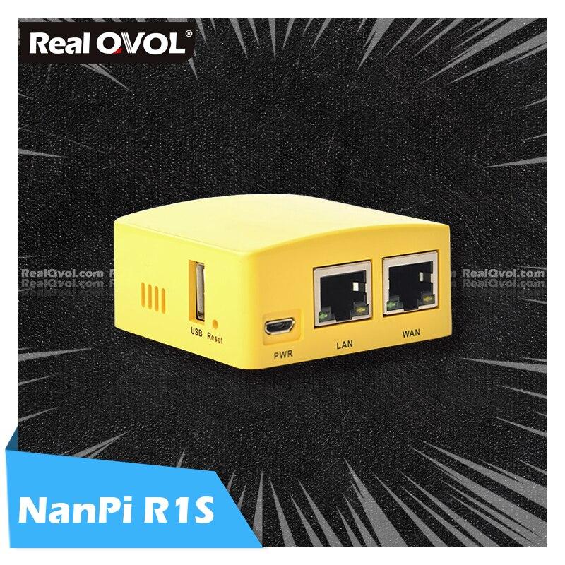 Портативный маленький маршрут RealQvol FriendlyELEC NanoPi R1S, все Чи H3/H5, двойной гигабитный Ethernet порт 512 М, память OpenWRT linux pi mini