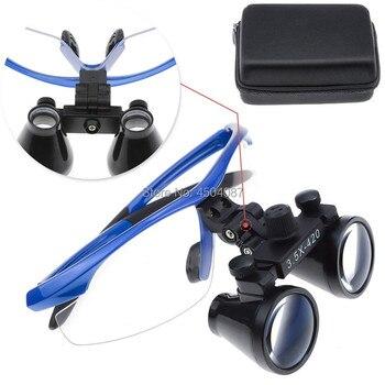High Quality Blue Plastic Frame Medical Loupes 3.5X Binocular Magnifier Medical Dental Surgical Loupes