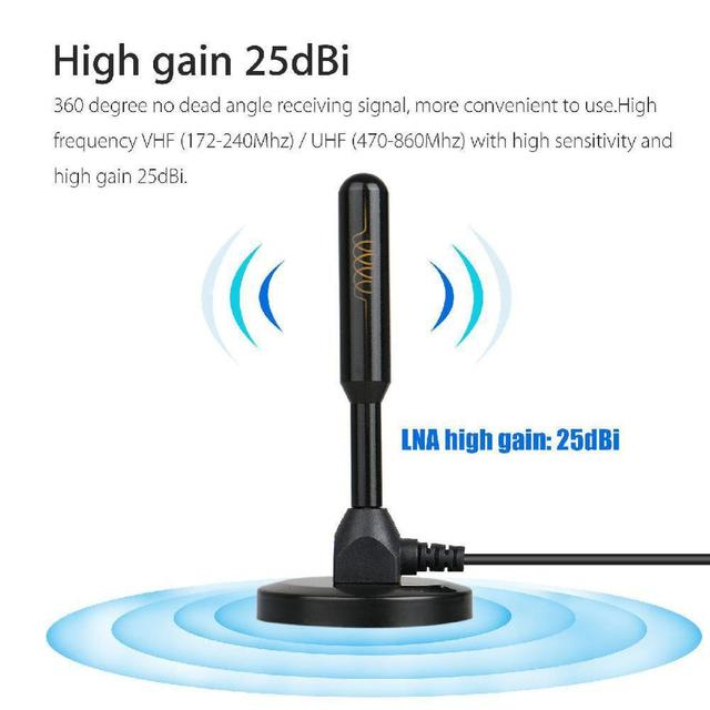 HD Digital Indoor Amplified TV Antenna 200 Miles Ultra HDTV With Amplifier VHF/UHF Quick Response Indoor Outdoor Aerial HD Set 2