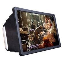 Nueva lupa de pantalla de teléfono móvil 1pc amplificador de vídeo de película HD 3D con soporte plegable amplificador de vídeo de alta calidad