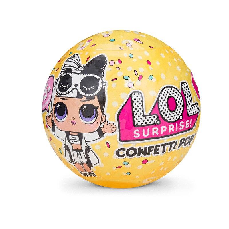 L.O.L SURPRISE! 1 Pc DIY LOL Dolls Surprise Toys With Original Box Girls Toys Kids Birthday Gift 10 Cm Diameter Sent Random