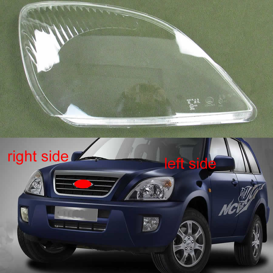 Transparent Lampshade Lampshade Front Headlight Shell Headlamp Glass Cover For Chery Tiggo 2005 2006 2007 2008 2009