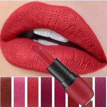 Lipstick Set Makeup Waterproof Matte Long Lasting Make-up For Women Pearl Batom 8 Colors Sexy Red Velvet Lips