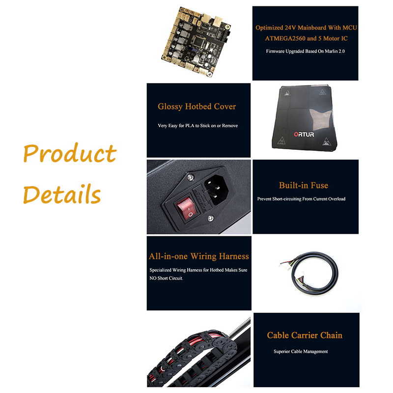 Ortur-4 Resume Printing Impresora 3d All Linear Guide Railway 3d Printer Industrial Level Filament End Sensor Imprimante 3d 4