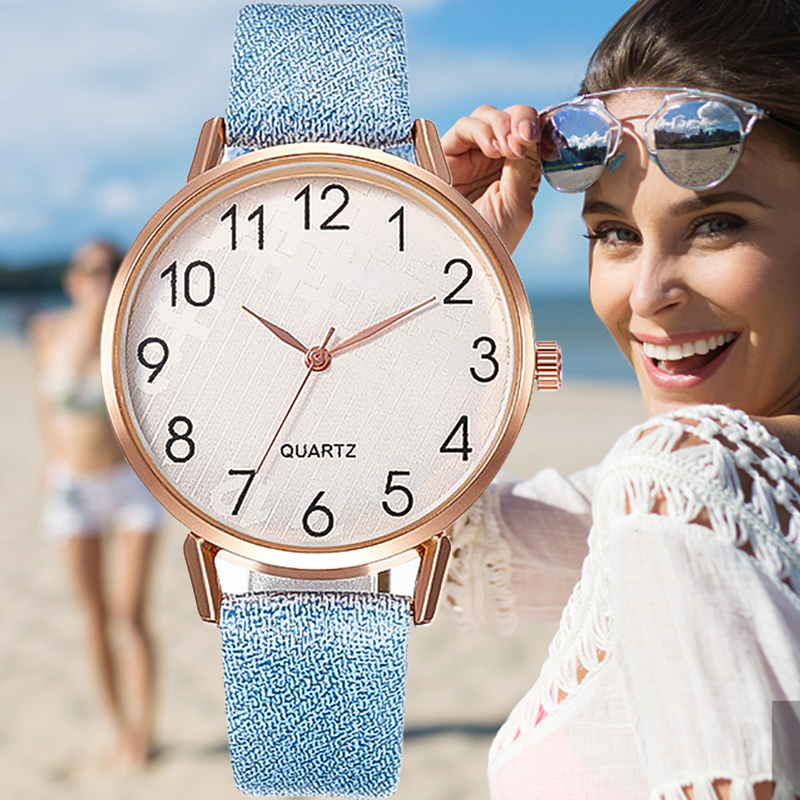 2020 Simple Brand Dress Women Quartz Watches Fashion Leather Wristwatch For Ladies Number Dial Watch Relogio Reloj Bule Clock