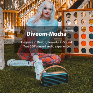 Image 5 - Divoom Mocha 40W Superior Bass Portable Wireless Bluetooth Speaker Retro Design 6 Drivers for 25h playtime Smart Home Decoration