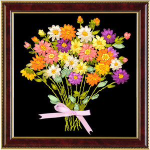 1 Pc 3D DIY Pastoral Flowers B