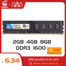 Dimm Ram DDR3 2gb/4gb/8gb 1600 PC3-12800 Memory Ram For All Intel And AMD Desktop Compatible ddr 3 1333 Ram(China)