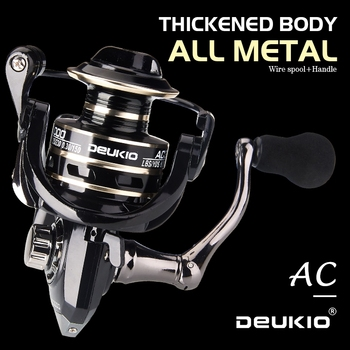 DEUKIO Fishing Reel Spinning 8KG Max Drag Metal Stainless Steel Handle Saltwater reel for fishing