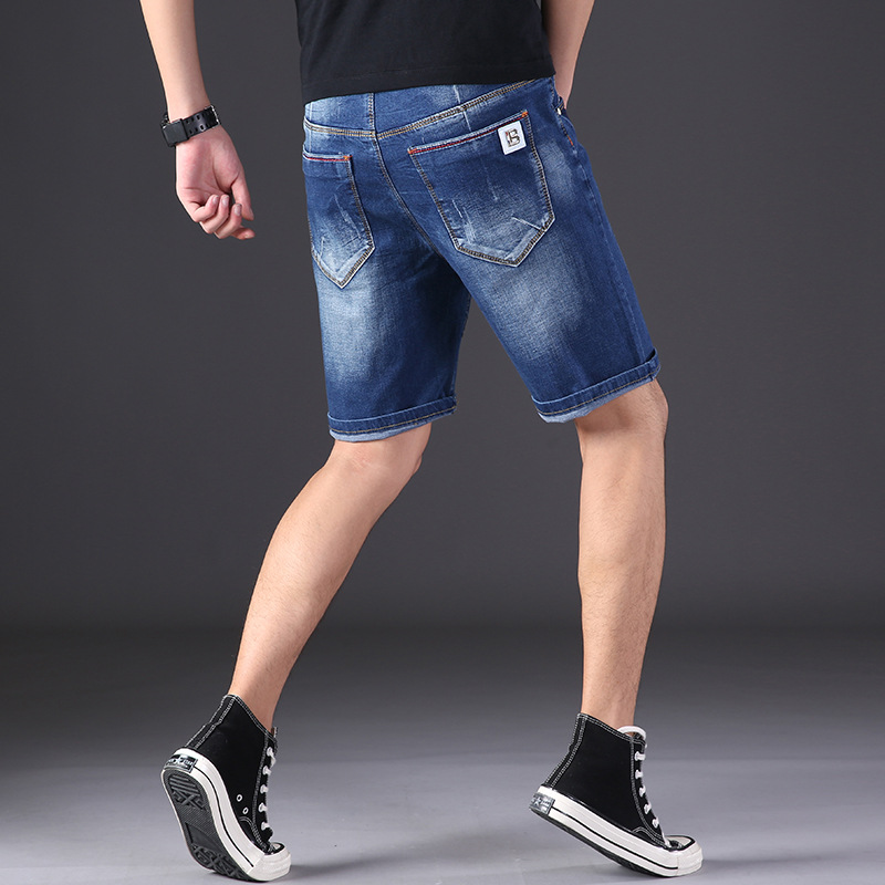 5501 MEN'S Shorts Thin Loose-Fit Short Denim Shorts Men's Trend Shorts Large Size MEN'S Wear Breeches L-6xl