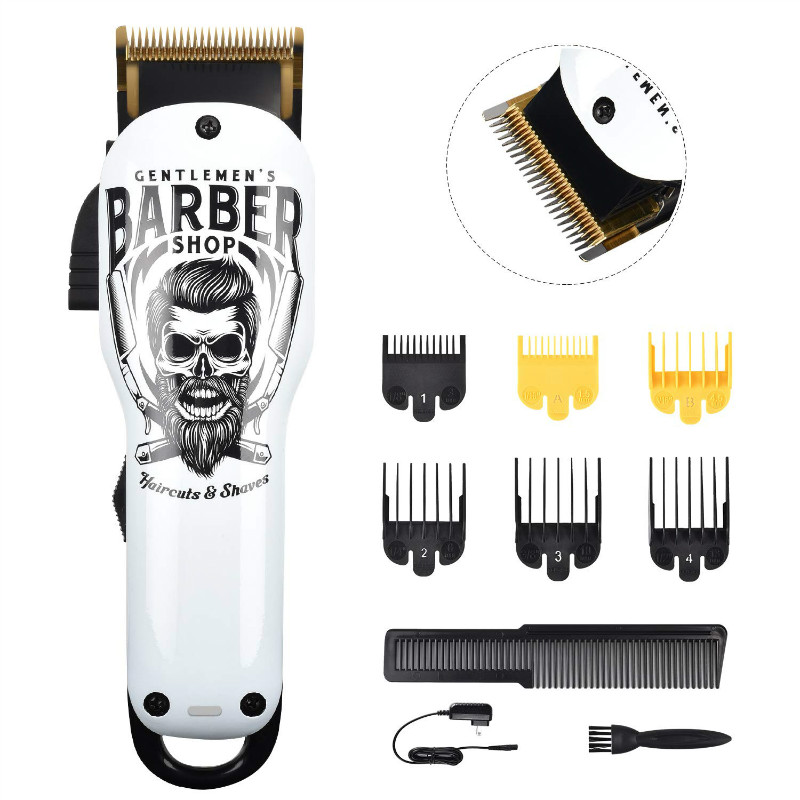Professional Cordless Hair Clippers Beard Trimmer For Men Kids Detachable Cord Barber Clippers Wireless Hair Cutting Kit Set