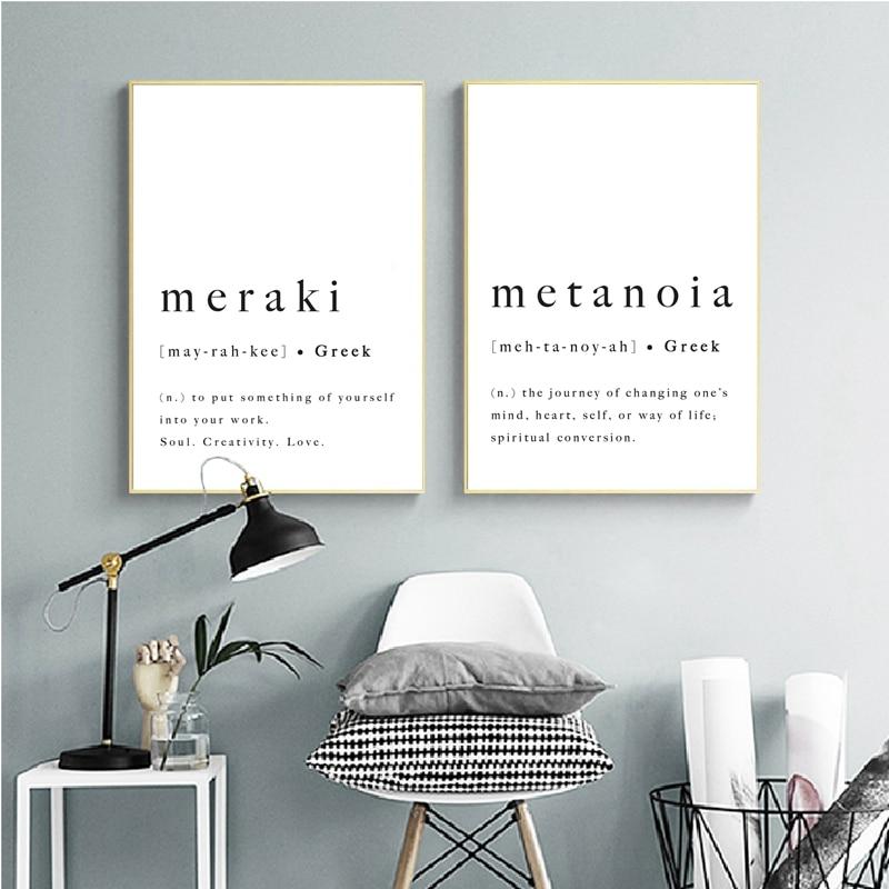 Greek Alphabet And Symbols Art Print Home Decor Wall Art Poster